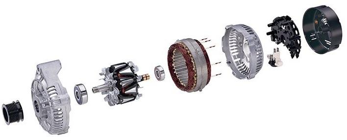 Rasklopljen alternator