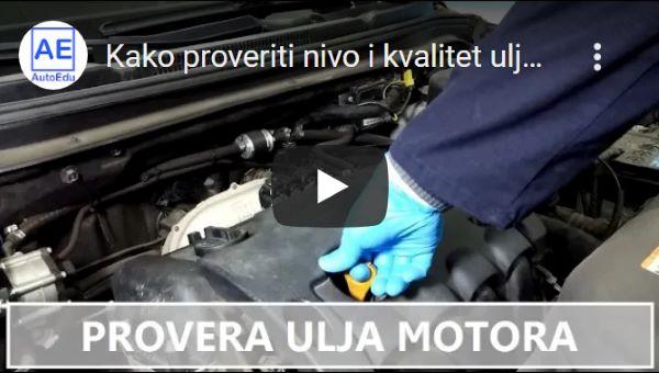 Pregled nivoa ulja motora