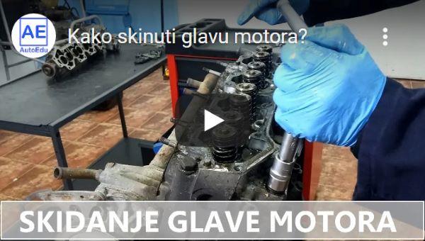 youtube - Skidanje glave motora
